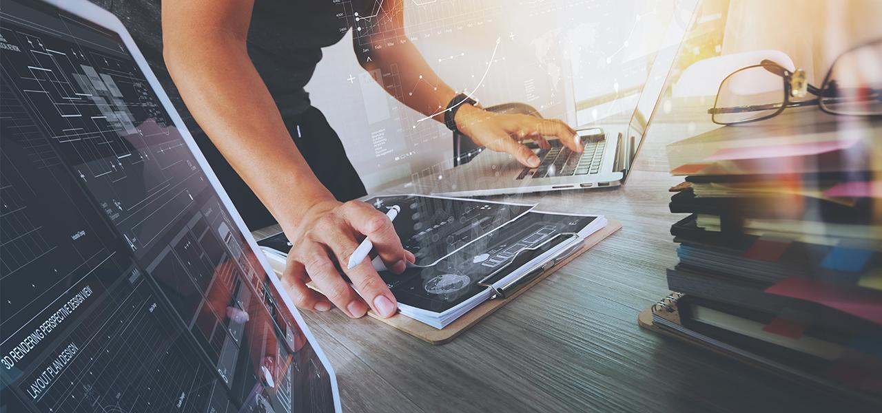 Webdesign - Foto van een webdesigner